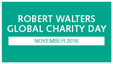 Robert Walters charity day logo