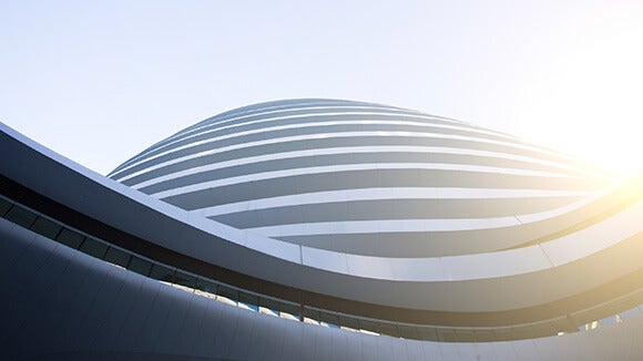 Modern dome on office building